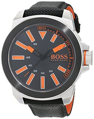 Hugo Boss Orange Herren Analog Quarz Armbanduhr mit Textilarmband