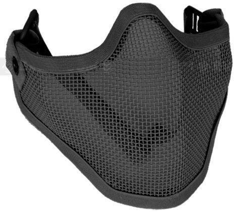 Toys+ Airsoft Half Face Mask Black Striker Mask
