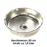 Carenesse Hamamschale – Wasserschale – Tas – Kupfer verzinnt, Dekoschale, Durchmesser 20 cm - 4