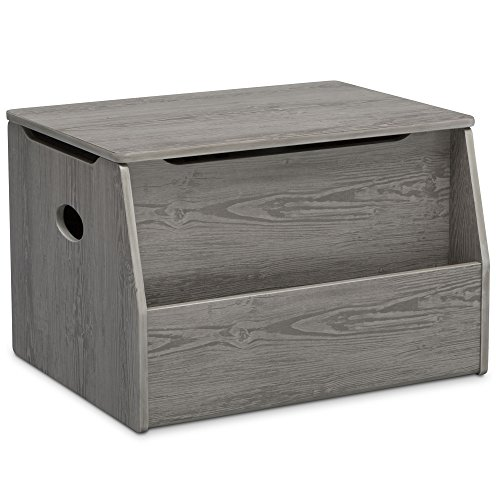 Delta Children Nolan Toy Box, Crafted Limestone