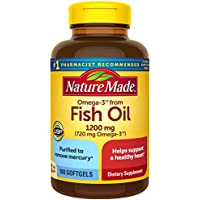 Nature Made Fish Oil 1200mg One Per Day 100 Softgels