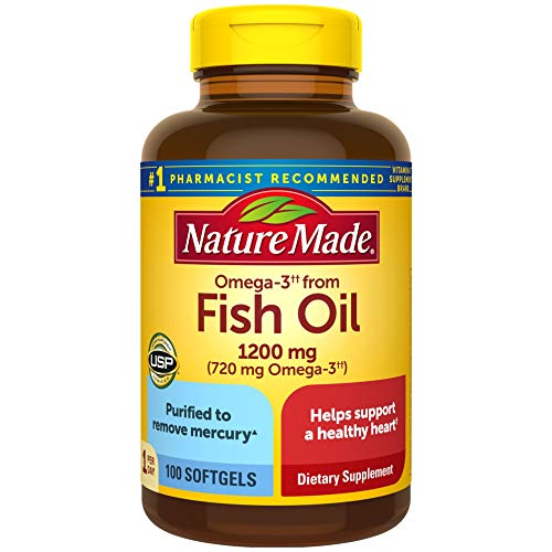 Nature Made Fish Oil 1200mg One Per Day 100 Softgels $6 or $4 with S&S