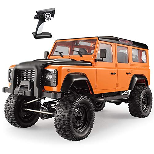 CGIIGI RC Orange 2.4H Ultra Long-Distance Remote Control 1:8 Simulation Remote Control Off-Road Vehicle 4WD Off-Road Climbing Vehicle Remote Control Car Model Metal Frame (Color : Orange)