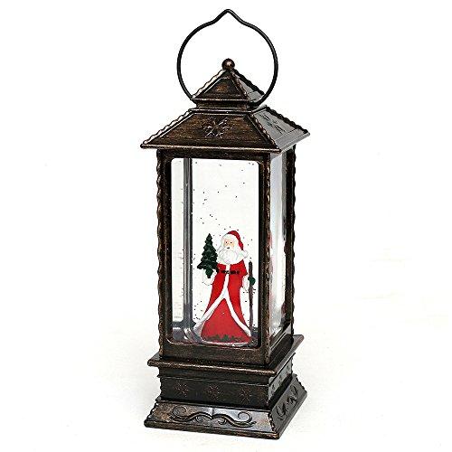 Wichtelstube-Kollektion LED Weihnachtslaterne Laterne mit elektrischen Schneewirbel Schneekugel Weihnachtskugel