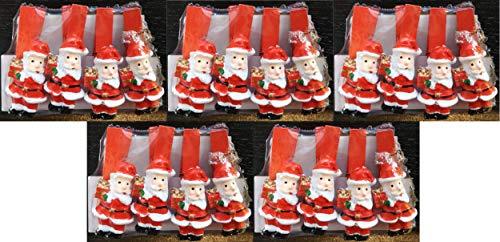 DUE ESSE SRL Set di 20 Mollette Chiudipacco a Forma di Babbo Natale per allegare Biglietti ai Regali