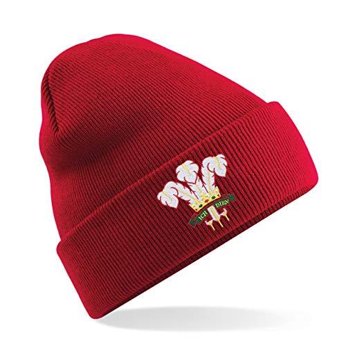 Unisexe adultes vintage brodée du Pays de Galles Écusson du Pays de Galles Cymru Rugby Bonnet d'hiver Chapeau à partir d'impression Me d'une Chemise e