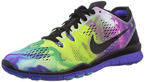 Nike Free 5.0 Tr Fit 5 Print - Zapatillas para mujer, Color Multicolor (Black/Black-Prsn Violet-Pht Bl), Talla 36