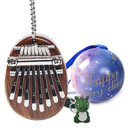 LIUCHANG Kalimba 8-Key Mini Thumb Piano mit Schlüsselketten for, tragbarer Kalimba Mini Thumb Piano liuchang20
