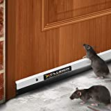 Xcluder 36-inch Low Profile Rodent Proof Door Sweep, Aluminum; Guaranteed to Stop Mice, Rats and Drafts