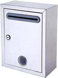 LZRZBH Buzón Buzones de Correo de Letra Post Box buzón de Correo buzón metálico Antiguo de Color Blanco for Montaje en Pared Post Box 21x11x27cm