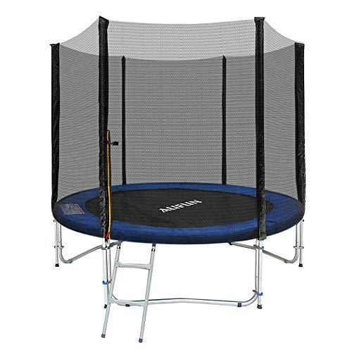 HENGMEI Trampolin Set Outdoor Gartentrampolin mit Sicherheitsnetz, UV-beständig Trampolinnetz, Leiter, TÜV Rheinland getestet (Ø 305cm, 10FT)
