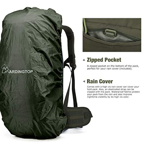 Mardingtop Molle Hiking Backpacks With Rain Cover
