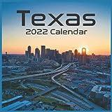 Texas 2022 Calendar: Official Texas US State Calendar 2022 16 Months