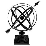 Treasure Gurus Sundial Cast Iron 24' Armillary Arrow Sphere Garden Decor