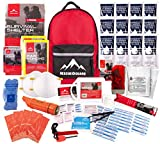 Rescue Guard; First Aid Kit, Hurricane Kit, Disaster Kit or Earthquake Kit; Emergency Survival Kit, Bug Out Bag Supplies, Survival Gear for 6 Day/ 72 Hours, 2 People (Basic Survival Pack)