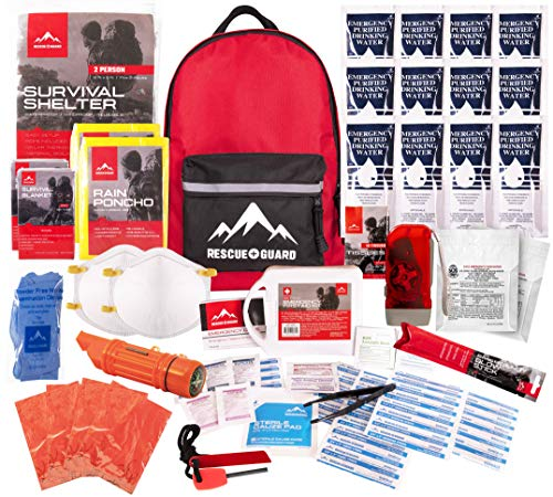 Rescue Guard; First Aid Kit, Hurricane Kit, Disaster Kit or Earthquake Kit;...
