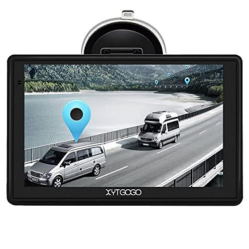 XYTGOGO 7 Pulgadas Navegador GPS para Camiones y Coches, Navegación por código Postal con guía de Voz Actualizaciones de Mapas de Europa para Toda la Vida