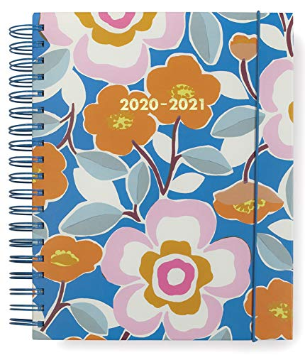 Kate Spade New York Mega 2020-2021 Planner Weekly & Monthly, 17 Month Hardcover Personal Planner Dated Aug 2020 - Dec 2021 with Stickers, Pocket, Tab Dividers, Notes/Holiday Pages, Pop Floral