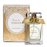 FLEURS Eau de Parfum per Donna - Spray Naturale 50 ml - Idea Mıgliore per un Regalo di Nozze - Fragranza di Festivita (MARIAGE)
