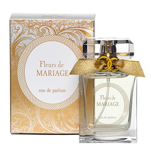 Fleurs de MARIAGE Eau de Parfüm für Damen + 50 ml Flakon - Verkaufspreis: € 60.00 + Beste Hochzeit Parfüm Geschenkidee + Aroma des wundervollen Festes