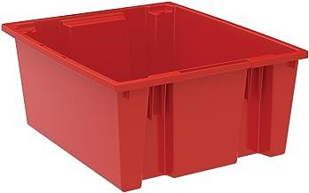 AKRO-MILS İstif ve Yuva Taşıma Kutusu - 58,4 x 48,2 x 25,4 cm - Kırmızı