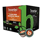 beaniac Flavor Freak Madagascar Vanilla | Flavored Light Roast, Single Serve Coffee K Cup Pods | Rainforest Alliance Certified | 30 Compostable, Plant-Based Coffee Pods | Keurig Brewer Compatible