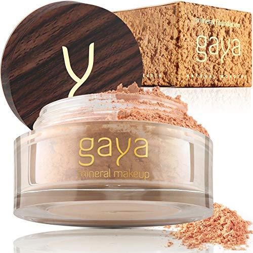 Mineral Foundation Make Up Puder – Vegane Professionelle Natürliche Full Coverage Hochdeckendes Makeup Powder für empflindliche Haut (Schattierung MF3)