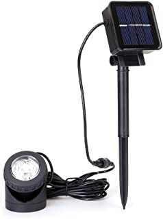 Solar Powered Pond Lights with 6LEDS 90°Adjustable Solar Lighting Submersible Pool Landscape Lighting for Garden,Yard,Pool