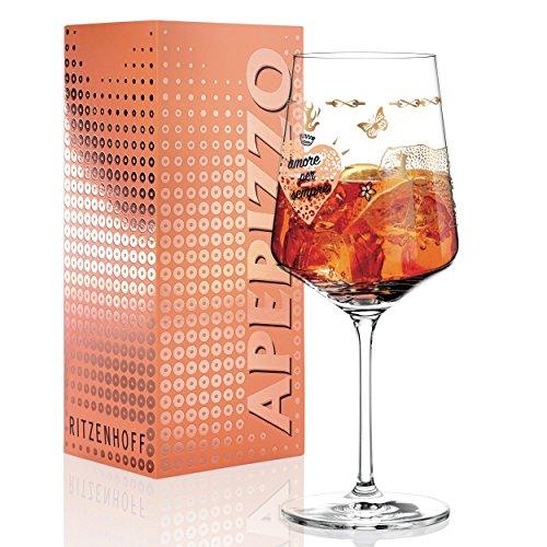 RITZENHOFF Aperizzo Aperitifglas von Michaela Koch, aus Kristallglas, 600 ml, mit edlen Goldanteilen