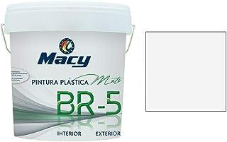 PINTURA PLASTICA MATE LAVABLE COLOR BLANCO ANTIMOHO PARA INTERIOR Y EXTERIOR EN FACHADAS ETC - 4 LTS o 6 KG-. MATE BR-5 MACY- ENVIO GRATIS 24/48 H (DIAS LABORABLES)