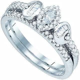 Dazzlingrock Collection 1/3 Carat Diamond Bridal Set