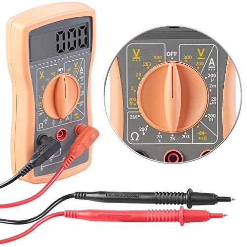 revolt Messgerät: Digitales Multimeter VA52 für Spannung, Stromstärke und Widerstand (Spannungsprüfer)