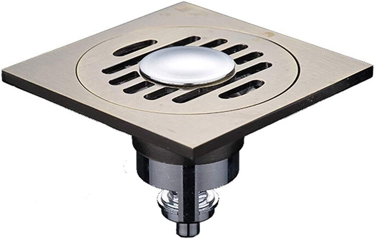 Floor drain- Thick Discharge Sewer Core Water Proof Copper Large Drainage Shower Room Drain welcome (color   A)
