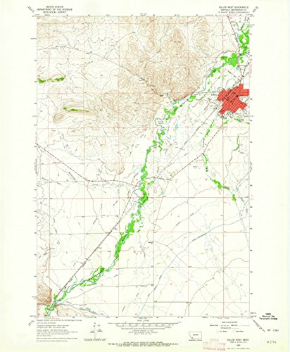 Montana Maps - 1963 Dillon West, MT - USGS Historical Topographic Wall Art - 44in x 55in