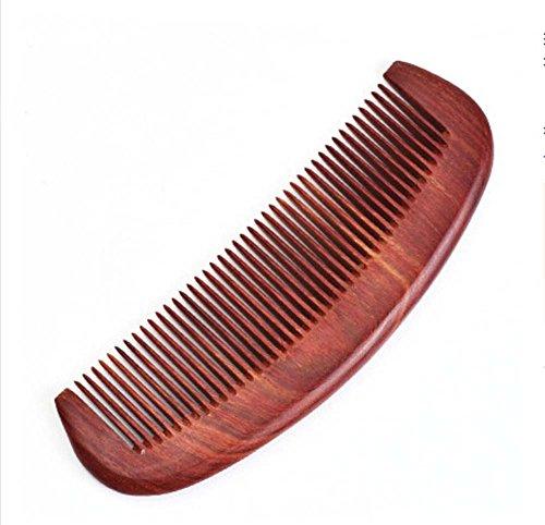 Dents fines peigne en bois de santal rouge Peigne anti-statique
