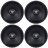 (4) Rockville RM84PRO 8' 4 Ohm 1200 Watt SPL Midrange/Mid-Bass Car Speakers