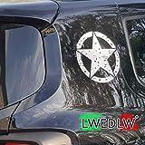2 da 15 cm Omaggio Adesivo Stella Militare Effetto Consumato Adesivi Stelle per Fuoristrada 4x4 Moto Auto SUV LWEDLW Nuova Generazione 2 da cm 20 Nero Opaco