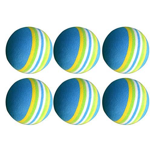 BESPORTBLE 20 Piezas de Pelota de Golf de Espuma Bola de Entrenamiento de Golf de Esponja de Color Arcoiris Bolas de Práctica para Principiantes en Interiores
