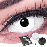 Farbige Kontaktlinsen Jahreslinsen Vampir Funnylens 1 Paar weisse weiße Crazy