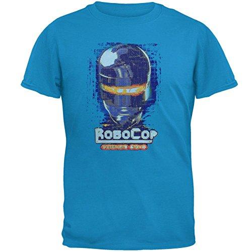 Mens Official Soft Robocop T-shirt, Small, Blue