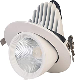 Mobestech Ceiling Spotlight 360ツーAdjustable LED Ceiling Lighting LED Downlights Single Track Lighting for Hallway Gallery ...