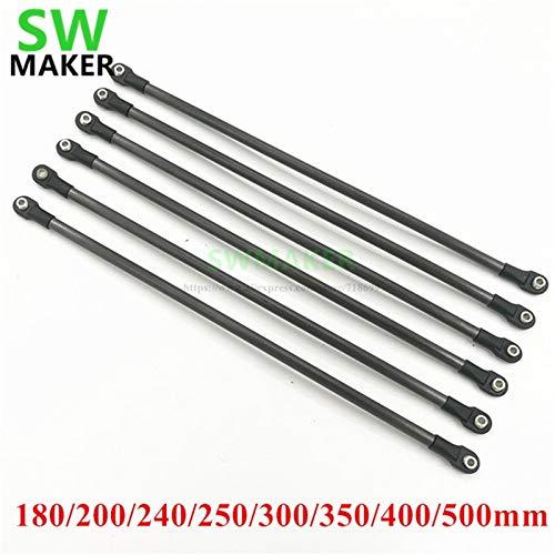Gimax 180mm-500mm Karbon Tube Diagonal Push Rod Arm + 5347 M4 Rod End Bearing kit for Rostock Delta Kossel/TEVO 3D Printer - (Size: 500mm Carbon Tube)