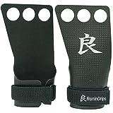 RoninGrips Dragon/Rhino Calleras 3 Agujeros para Crosstraining, 2 mm de Grosor, Protege Tus Manos para Hombre y Mujer… (Negro Carbono, M)