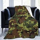 Bernice Winifred Green_Camo Ultra-Soft Micro Fleece Blanket Confeccionada en Franela Anti-Pilling, más cómoda y cálida.60x50
