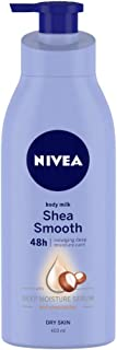 NIVEA Body Lotion, Shea Smooth Milk, For Dry Skin, 400 ml