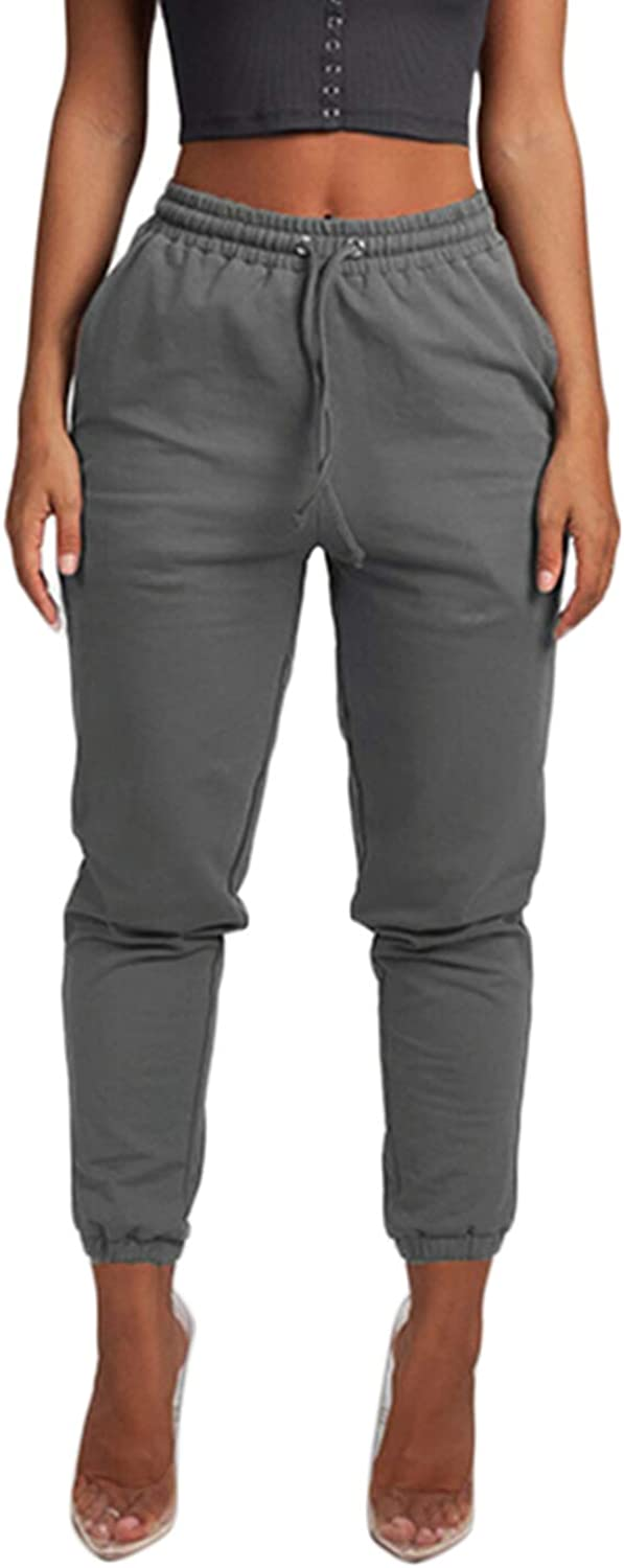 Cosygal Women's French Terry Jogger Sweatpant with Drawstring Pockets