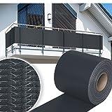 HG® 35mx19cm Sichtschutzstreifen Stabmattenzaun Streifen PVC verschiedene Modelle für den Gartenzaun oder Balkon
