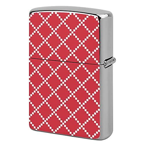 Custodia per accendino tascabile, unisex, in metallo, idea regalo, per sigarette, candele, papavero, rosso