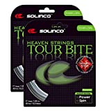 Solinco Diamond Rough Tennis String - Textured Co-Poly for Extra Byte - 17 Gauge (1.20) - 2 Packs