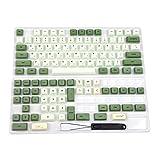 Matcha Dye Sub ZDA PBT Tastenkappe ähnlich XDA Japanisch Koreanisch Russisch für MX Keyboard 104 87 61 Melody 96 KBD75 ID80 GK64 Tada68 (nur Tastenkappe) (Koreanisch)